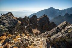 εθνική επιφύλαξη βουνών τοπίων της Κριμαίας φθινοπώρου karadag Tatranska Lomnica στοκ εικόνες