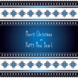 Εθνική ευχετήρια κάρτα καλή χρονιά και Χαρούμενα Χριστούγεννα Στοκ Φωτογραφία