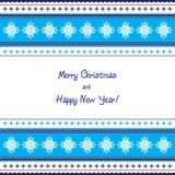 Εθνική ευχετήρια κάρτα καλή χρονιά και Χαρούμενα Χριστούγεννα Στοκ Φωτογραφίες