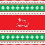 Εθνική ευχετήρια κάρτα καλή χρονιά και Χαρούμενα Χριστούγεννα Στοκ φωτογραφία με δικαίωμα ελεύθερης χρήσης