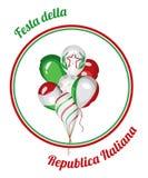 Εθνική ημέρα Δημοκρατίας της Ιταλίας επίσης corel σύρετε το διάνυσμα απεικόνισης Στοκ Εικόνα