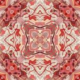 Εθνική διακόσμηση mehndi Tracery Αδιάφορο διακριτικό ηρεμώντας μοτίβο, χρησιμοποιήσιμο doodling ζωηρόχρωμο αρμονικό σχέδιο διάνυσ Στοκ Εικόνες