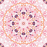 Εθνική διακόσμηση mehndi Tracery Αδιάφορο διακριτικό ηρεμώντας μοτίβο, χρησιμοποιήσιμο doodling ζωηρόχρωμο αρμονικό σχέδιο διάνυσ Στοκ Φωτογραφίες