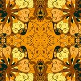 Εθνική διακόσμηση mehndi Tracery Αδιάφορο διακριτικό ηρεμώντας μοτίβο, χρησιμοποιήσιμο doodling ζωηρόχρωμο αρμονικό σχέδιο διάνυσ Στοκ Φωτογραφία