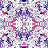 Εθνική διακόσμηση mehndi Tracery Αδιάφορο διακριτικό ηρεμώντας μοτίβο, χρησιμοποιήσιμο doodling ζωηρόχρωμο αρμονικό σχέδιο διάνυσ Στοκ εικόνα με δικαίωμα ελεύθερης χρήσης