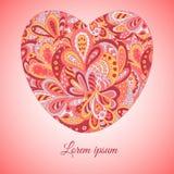 Εθνική καρδιά σχεδίων Doodle Κάρτα Στοκ εικόνες με δικαίωμα ελεύθερης χρήσης
