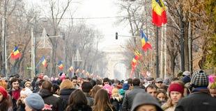 Εθνική μέρα της Ρουμανίας Στοκ Φωτογραφία