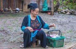 Εθνική μειονότητα Hmong στο Λάος στοκ φωτογραφίες
