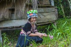 Εθνική μειονότητα Hmong στο Λάος στοκ εικόνα