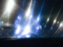 Εθνική οδός θαμπάδων φωτεινού σηματοδότη νύχτας Στοκ φωτογραφία με δικαίωμα ελεύθερης χρήσης