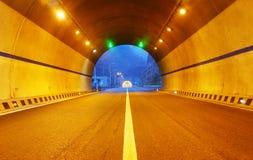 Εθνική οδός και σήραγγα Στοκ εικόνα με δικαίωμα ελεύθερης χρήσης