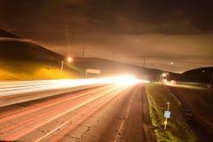 Εθνική οδός Καλιφόρνιας τη νύχτα Στοκ Φωτογραφία