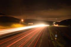 Εθνική οδός Καλιφόρνιας τη νύχτα Στοκ εικόνα με δικαίωμα ελεύθερης χρήσης