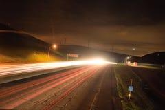 Εθνική οδός Καλιφόρνιας τη νύχτα Στοκ φωτογραφίες με δικαίωμα ελεύθερης χρήσης