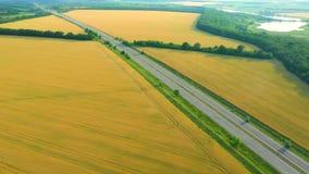 Εθνική οδός μέσω των θερινών τομέων απόθεμα βίντεο