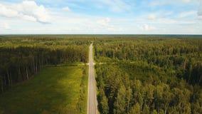 Εθνική οδός μεταξύ του δάσους Στοκ εικόνες με δικαίωμα ελεύθερης χρήσης