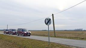 Εθνική οδός με το όριο ταχύτητας Στοκ Εικόνα