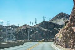 εθνική οδός Νεβάδα Ταξίδι στο σταθμό παραγωγής ηλεκτρικού ρεύματος Hoover Νεβάδα, Ηνωμένες Πολιτείες Στοκ εικόνα με δικαίωμα ελεύθερης χρήσης