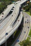 Εθνική οδός στην πόλη της Σιγκαπούρης Στοκ εικόνες με δικαίωμα ελεύθερης χρήσης