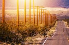 Εθνική οδός της ερήμου της Καλιφόρνιας Στοκ Φωτογραφία