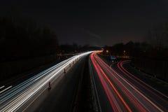 Εθνική οδός τη νύχτα στοκ εικόνες με δικαίωμα ελεύθερης χρήσης