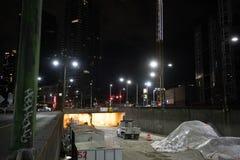 Εθνική οδός 99 του βόρειου Σιάτλ το Μάρτιο του 2019 κατασκευής στοκ φωτογραφίες