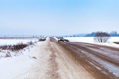 Εθνική οδός χιονιού Στοκ Εικόνα