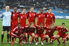 εθνική ομάδα ποδοσφαίρο&up Στοκ φωτογραφίες με δικαίωμα ελεύθερης χρήσης