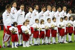 εθνική ομάδα της Πολωνίας ποδοσφαίρου Στοκ φωτογραφία με δικαίωμα ελεύθερης χρήσης