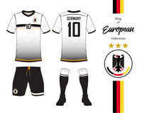 Εθνική ομάδα ποδοσφαίρου της Γερμανίας ομοιόμορφη Στοκ Εικόνες
