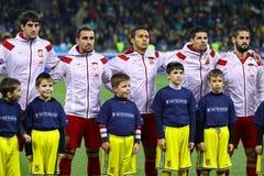 Εθνική ομάδα ποδοσφαίρου της Ισπανίας Στοκ φωτογραφίες με δικαίωμα ελεύθερης χρήσης