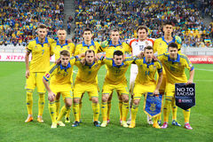 Εθνική ομάδα ποδοσφαίρου της Ουκρανίας Στοκ φωτογραφία με δικαίωμα ελεύθερης χρήσης