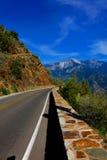 Εθνική οδός από Sequoia το εθνικό πάρκο Στοκ φωτογραφίες με δικαίωμα ελεύθερης χρήσης