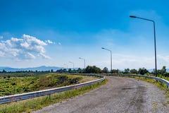 Εθνική οδός ασφάλτου Στοκ Φωτογραφίες