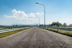 Εθνική οδός ασφάλτου Στοκ Εικόνα