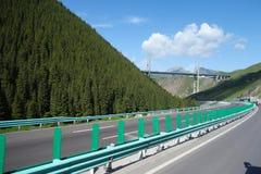 Εθνική οδός και γέφυρα στα βουνά Στοκ Φωτογραφίες