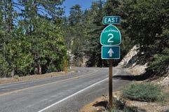 εθνική οδός 2 Καλιφόρνια Στοκ φωτογραφία με δικαίωμα ελεύθερης χρήσης