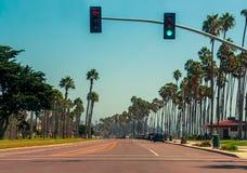 Εθνική οδός 1 σε Santa Barbara, Καλιφόρνια Στοκ Εικόνα