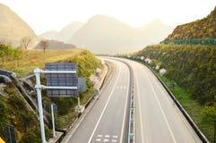 Εθνική οδός στα βουνά Στοκ Εικόνες