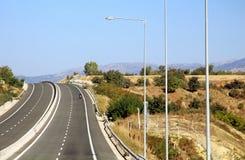 Εθνική οδός στην Ελλάδα Στοκ Φωτογραφία