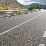 Εθνική οδός στην Ιταλία Στοκ εικόνα με δικαίωμα ελεύθερης χρήσης