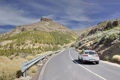 Εθνική οδός στο ηφαίστειο Teide canary Στοκ φωτογραφίες με δικαίωμα ελεύθερης χρήσης