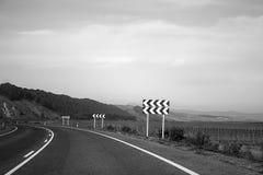Εθνική οδός σωστών βελών Στοκ Εικόνες
