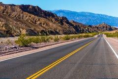 Εθνική οδός της ερήμου της Καλιφόρνιας Στοκ εικόνα με δικαίωμα ελεύθερης χρήσης