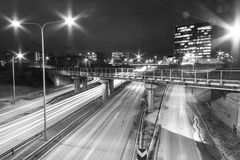 Εθνική οδός τη νύχτα Στοκ Φωτογραφία