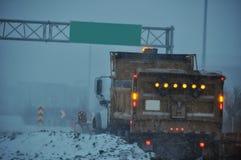 Εθνική οδός φορτηγών χιονιού στοκ εικόνα