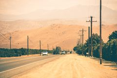 Εθνική οδός χώρας Καλιφόρνιας Στοκ φωτογραφίες με δικαίωμα ελεύθερης χρήσης
