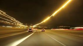 Εθνική οδός Cameracar νύχτας της Βαρκελώνης απόθεμα βίντεο
