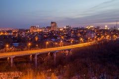 Εθνική οδός Voronezh Ανταλλαγή μεταφορών με overpass και τη γέφυρα στοκ φωτογραφία