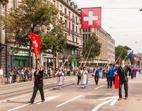 εθνική παρέλαση ελβετικ Στοκ φωτογραφία με δικαίωμα ελεύθερης χρήσης